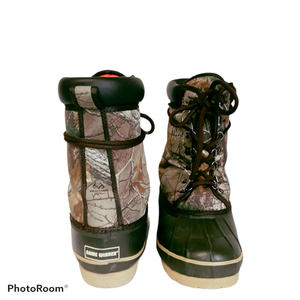 Game Winner Brown Camo Lace Up Boots Mens Sz 7